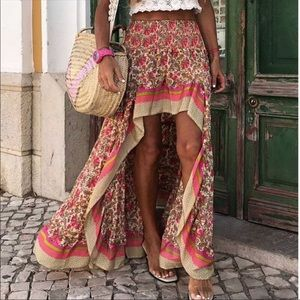 💃🏻ARI Bohemian Floral Skirt